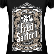 Design ~ Fred Sanford - Women's Premium V-Neck - Black
