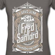 Design ~ Fred Sanford - Women's V Neck - Graphite Gray