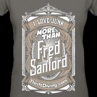 Design ~ Fred Sanford - Women's V Neck - Graphite Gray