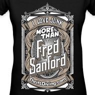 Design ~ Fred Sanford - Women's V Neck - Black