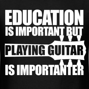 Education Guitar_wt T-Shirts - Men's T-Shirt
