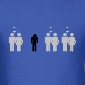 Forever alone t shirt - Men's T-Shirt