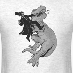 Punching a t-rex like a boss t shirt