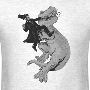 Punching a t-rex like a boss t shirt - Men's T-Shirt