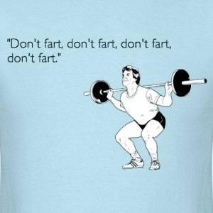 Funny fitness fart t shirt - Men's T-Shirt