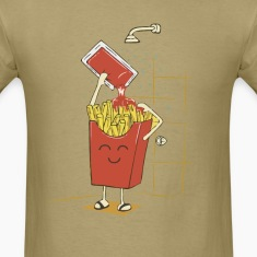 Funny fries with ketchup t shirt