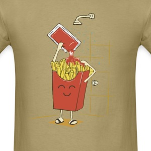 Funny fries with ketchup t shirt - Men's T-Shirt