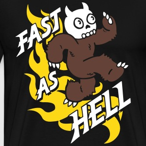 Fast as Hell - 3 color T-Shirts - Men's Premium T-Shirt