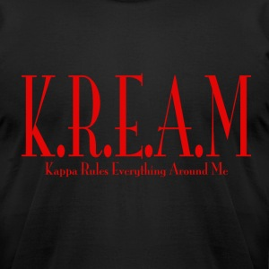 K.R.E.A.M Black - Men's T-Shirt by American Apparel
