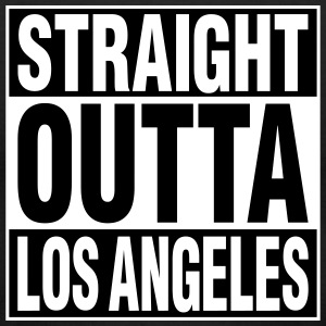 Straight Outta LA T-Shirts - Men's T-Shirt by American Apparel
