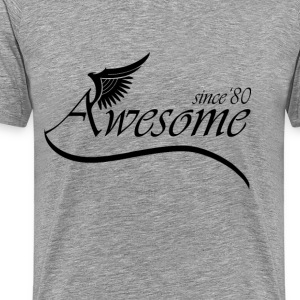 Awesome Since1980 T-Shirts - Men's Premium T-Shirt