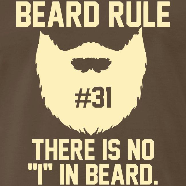 beard rules beard rule 31 mens premium t shirt