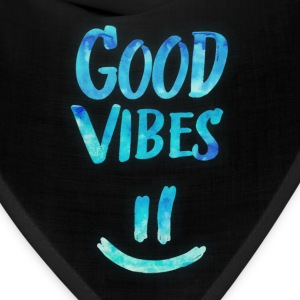 Good Vibes - Funny Smiley Statement / Happy Face Caps - Bandana