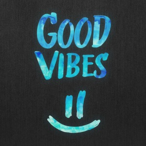 Good Vibes - Funny Smiley Statement / Happy Face Bags & backpacks - Tote Bag
