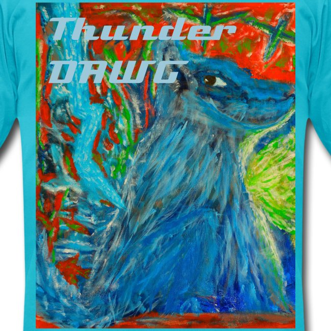Thunder Dawg, Men's T-shirt with Text