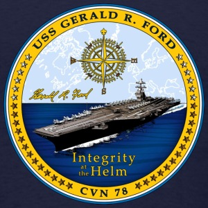USS Gerald R Ford CVN-78 Shier - Men's T-Shirt