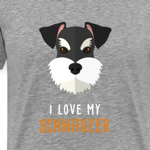I love my schnauzer T-Shirts - Men's Premium T-Shirt