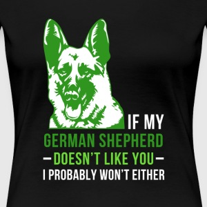 My german shepherd Women's T-Shirts - Women's Premium T-Shirt