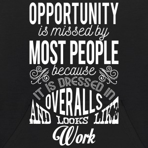 Opportunity looks like work. Motivational quote Sweatshirts - Kids' Hoodie