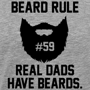 beard rule 59 T-Shirts - Men's Premium T-Shirt