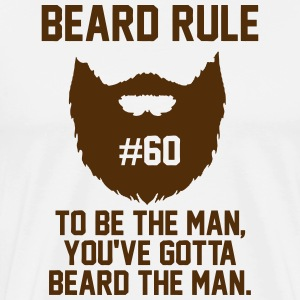 beard rule 60 T-Shirts - Men's Premium T-Shirt