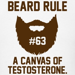 beard rule 63 T-Shirts - Men's T-Shirt