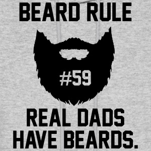 beard rule 59 Hoodies - Men's Hoodie