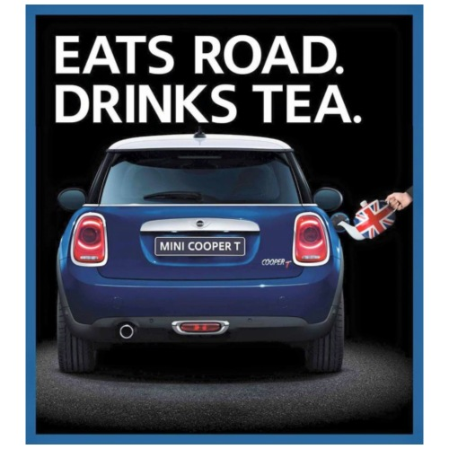 Eats road drinks tea