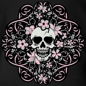 Girly Vintage Skull - Short Sleeve Baby Bodysuit