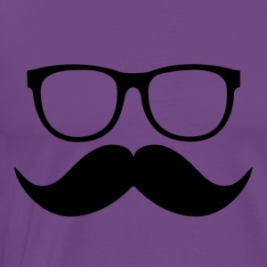 mustache and glasses - Men's Premium T-Shirt
