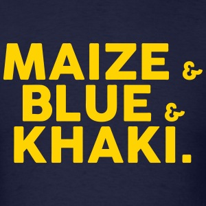 Maize & Blue & Khaki T-Shirts - Men's T-Shirt
