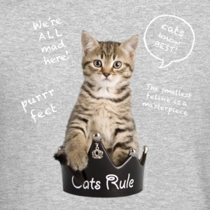 Cats Rule Long Sleeve Shirts - Crewneck Sweatshirt