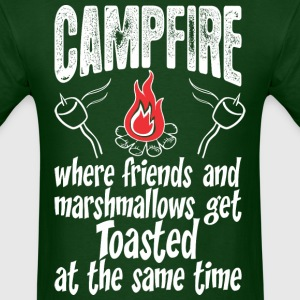 Campfire Where Friends And Marshmallows Get Toast - Men's T-Shirt
