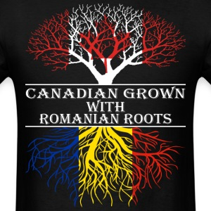 Canadian Grown With Romanian Roots - Men's T-Shirt
