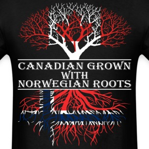 Canadian Grown With Norwegian Roots - Men's T-Shirt
