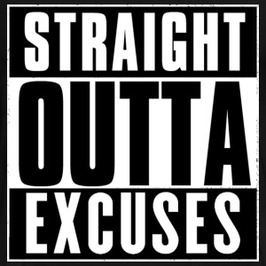 STRAIGHT OUTTA EXCUSES T-Shirts - Men's Premium T-Shirt