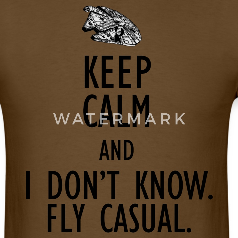 Keep Calm and Fly Casual (Mens) - Men's T-Shirt