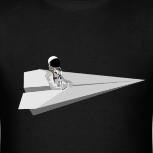 Mercury Astronaut riding paper air plane - Men's T-Shirt