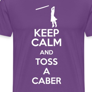 Keep Calm, and Toss a Caber - Men's Premium T-Shirt