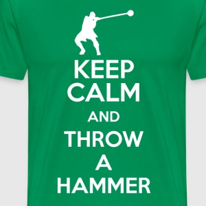 Keep Calm, and Throw a Hammer - Men's Premium T-Shirt