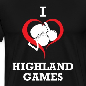 I heart Highland Games - Men's Premium T-Shirt