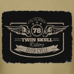 Winged Skulls Dyer Cycle T-Shirts - Men's T-Shirt