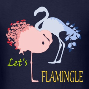 Flamingo Romance T-Shirts - Men's T-Shirt