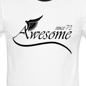 Awesome SINCE 1973 T-Shirts - Men's Ringer T-Shirt