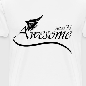 Awesome SINCE 1991 T-Shirts - Men's Premium T-Shirt