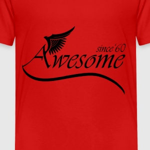 Awesome SINCE 1960 Baby & Toddler Shirts - Toddler Premium T-Shirt