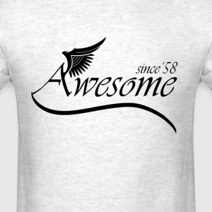 Awesome SINCE 1958 T-Shirts - Men's T-Shirt