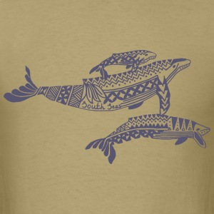 Tropical Whale Mens T-Shirt - Men's T-Shirt