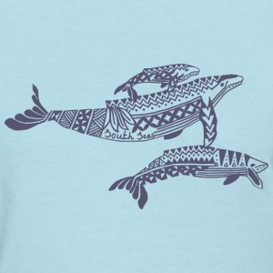 Tropical Whale Women's T-Shirt - Women's T-Shirt
