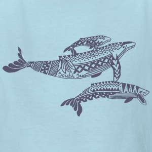 Tropical Whale Kids T-Shirt - Kids' T-Shirt